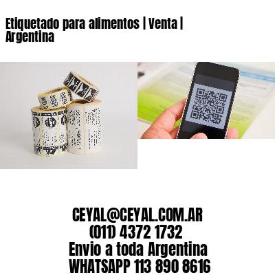 Etiquetado para alimentos   Venta   Argentina
