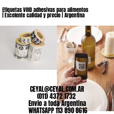 Etiquetas VOID adhesivas para alimentos | Excelente calidad y precio | Argentina