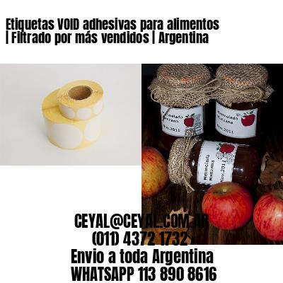 Etiquetas VOID adhesivas para alimentos | Filtrado por más vendidos | Argentina