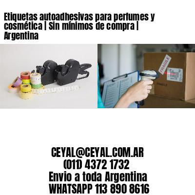 Etiquetas autoadhesivas para perfumes y cosmética   Sin mínimos de compra   Argentina