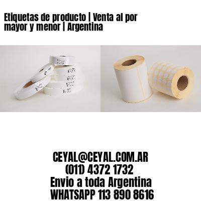 Etiquetas de producto   Venta al por mayor y menor   Argentina