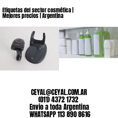 Etiquetas del sector cosmética   Mejores precios   Argentina