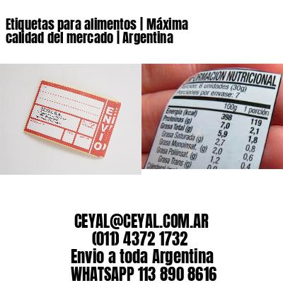 Etiquetas para alimentos | Máxima calidad del mercado | Argentina