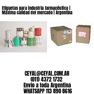Etiquetas para industria farmacéutica | Máxima calidad del mercado | Argentina