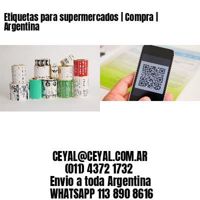 Etiquetas para supermercados | Compra | Argentina