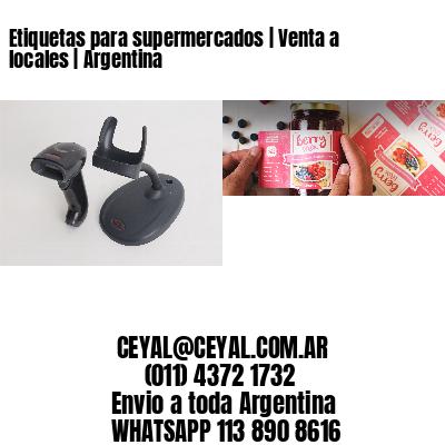 Etiquetas para supermercados | Venta a locales | Argentina
