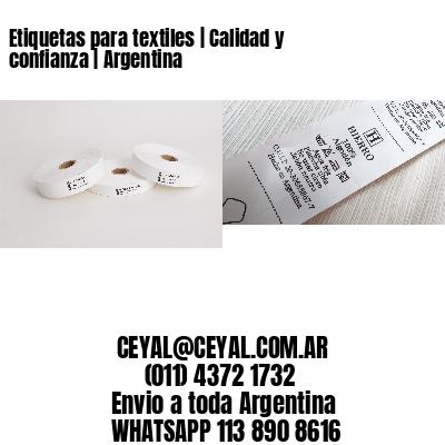 Etiquetas para textiles | Calidad y confianza | Argentina