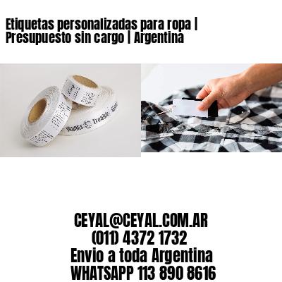 Etiquetas personalizadas para ropa | Presupuesto sin cargo | Argentina