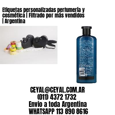 Etiquetas personalizadas perfumería y cosmética   Filtrado por más vendidos   Argentina