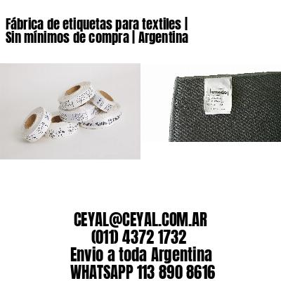 Fábrica de etiquetas para textiles   Sin mínimos de compra   Argentina