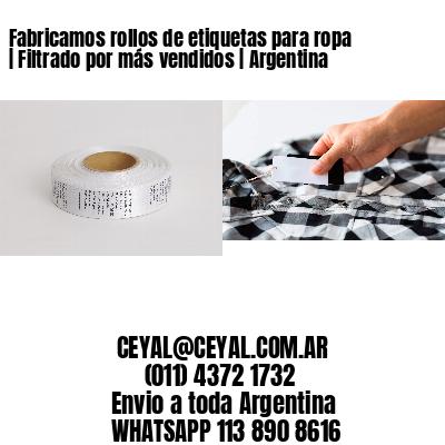 Fabricamos rollos de etiquetas para ropa   Filtrado por más vendidos   Argentina