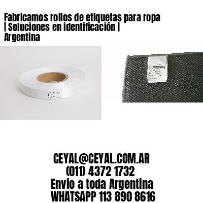Fabricamos rollos de etiquetas para ropa   Soluciones en identificación   Argentina