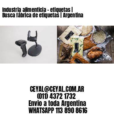 Industria alimenticia - etiquetas   Busca fábrica de etiquetas   Argentina