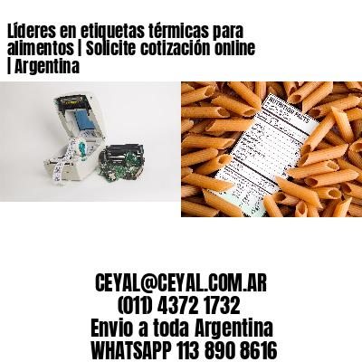 Líderes en etiquetas térmicas para alimentos   Solicite cotización online   Argentina