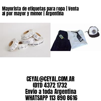 Mayorista de etiquetas para ropa | Venta al por mayor y menor | Argentina