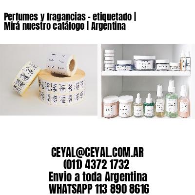 Perfumes y fragancias - etiquetado | Mirá nuestro catálogo | Argentina