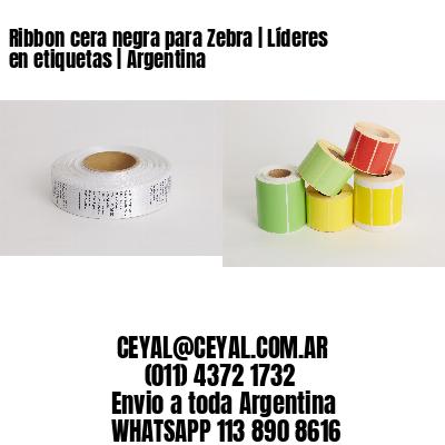Ribbon cera negra para Zebra   Líderes en etiquetas   Argentina