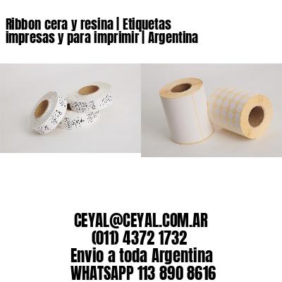 Ribbon cera y resina   Etiquetas impresas y para imprimir   Argentina