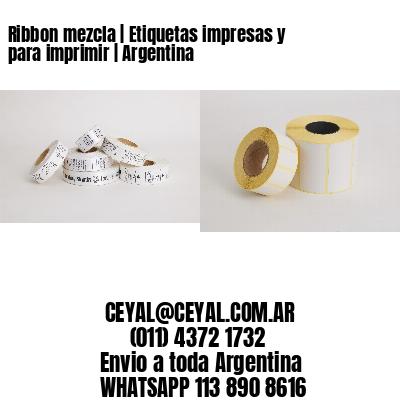 Ribbon mezcla   Etiquetas impresas y para imprimir   Argentina