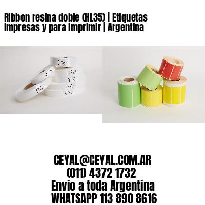 Ribbon resina doble (HL35)   Etiquetas impresas y para imprimir   Argentina
