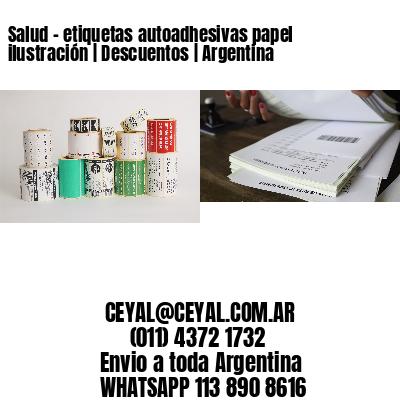 Salud - etiquetas autoadhesivas papel ilustración   Descuentos   Argentina