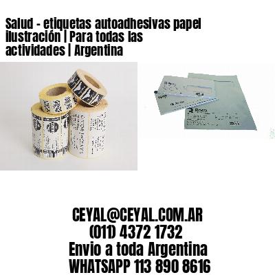 Salud - etiquetas autoadhesivas papel ilustración   Para todas las actividades   Argentina