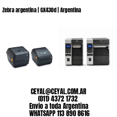 Zebra argentina | GX430d | Argentina