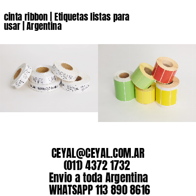 cinta ribbon   Etiquetas listas para usar   Argentina