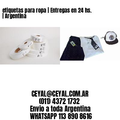 etiquetas para ropa   Entregas en 24 hs.   Argentina