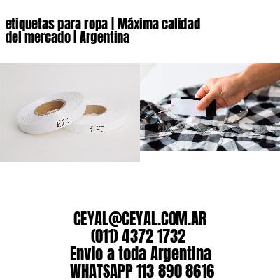 etiquetas para ropa   Máxima calidad del mercado   Argentina