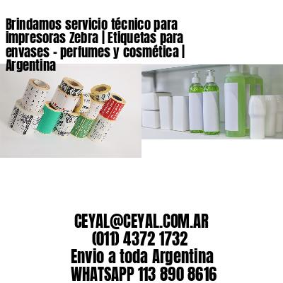 Brindamos servicio técnico para impresoras Zebra | Etiquetas para envases - perfumes y cosmética | Argentina