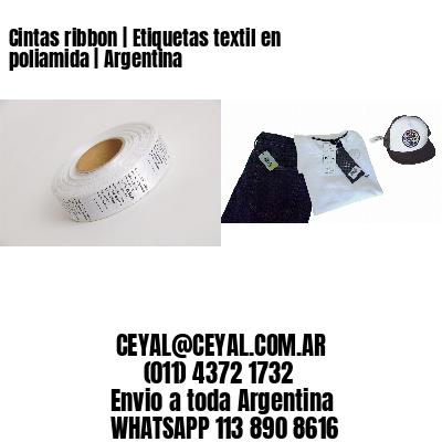 Cintas ribbon | Etiquetas textil en poliamida | Argentina