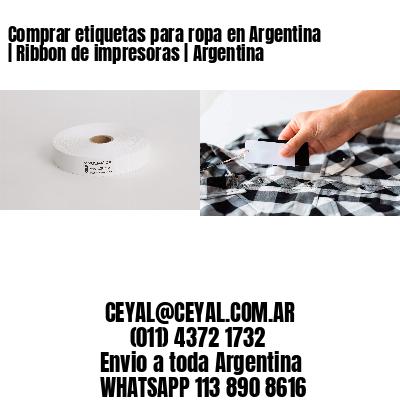 Comprar etiquetas para ropa en Argentina   Ribbon de impresoras   Argentina