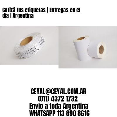 Cotizá tus etiquetas | Entregas en el día | Argentina