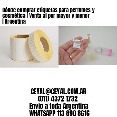 Dónde comprar etiquetas para perfumes y cosmética | Venta al por mayor y menor | Argentina