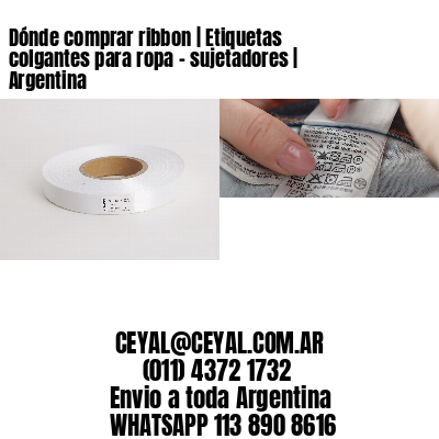 Dónde comprar ribbon | Etiquetas colgantes para ropa - sujetadores | Argentina