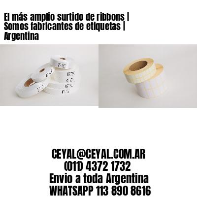 El más amplio surtido de ribbons | Somos fabricantes de etiquetas | Argentina