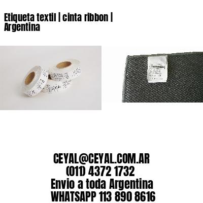 Etiqueta textil | cinta ribbon | Argentina