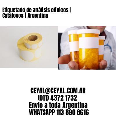Etiquetado de análisis clínicos | Catálogos | Argentina