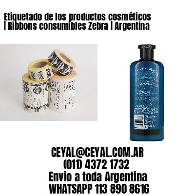 Etiquetado de los productos cosméticos | Ribbons consumibles Zebra | Argentina