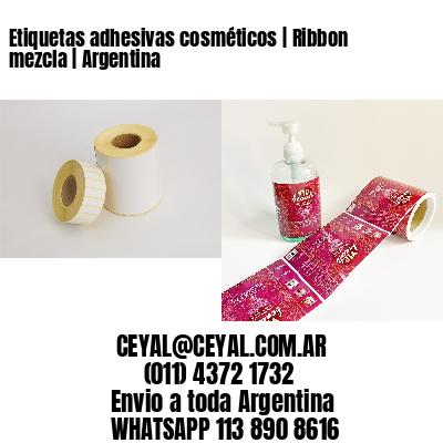 Etiquetas adhesivas cosméticos | Ribbon mezcla | Argentina