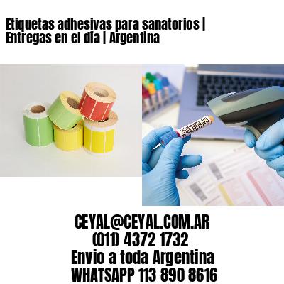 Etiquetas adhesivas para sanatorios   Entregas en el día   Argentina