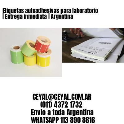 Etiquetas autoadhesivas para laboratorio | Entrega inmediata | Argentina