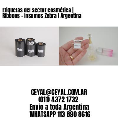 Etiquetas del sector cosmética | Ribbons - insumos Zebra | Argentina