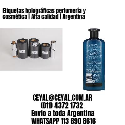 Etiquetas holográficas perfumería y cosmética   Alta calidad   Argentina