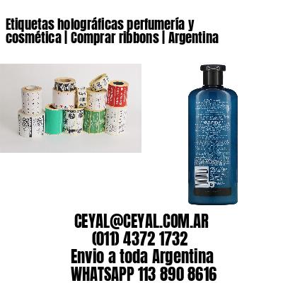Etiquetas holográficas perfumería y cosmética | Comprar ribbons | Argentina