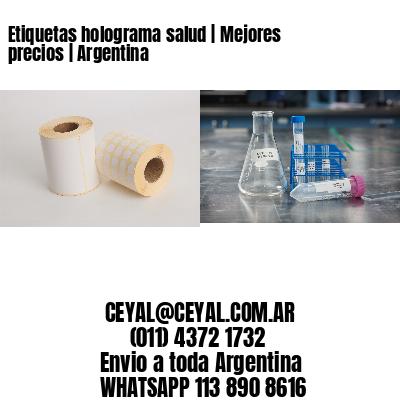 Etiquetas holograma salud   Mejores precios   Argentina