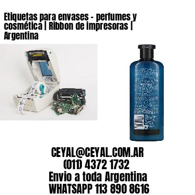Etiquetas para envases - perfumes y cosmética | Ribbon de impresoras | Argentina