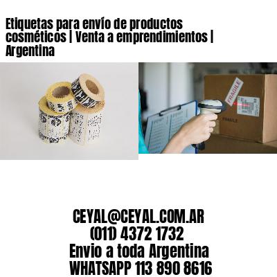 Etiquetas para envío de productos cosméticos | Venta a emprendimientos | Argentina