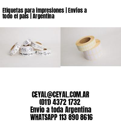 Etiquetas para impresiones | Envíos a todo el país | Argentina